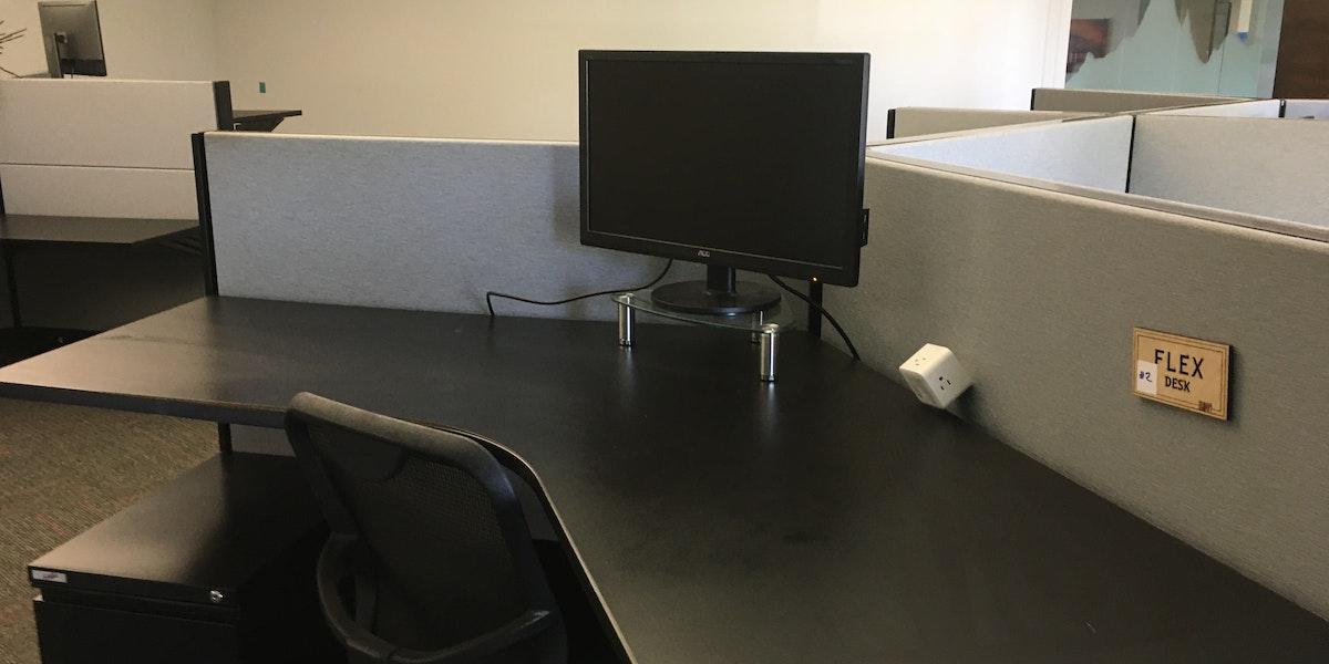 Photo of Flex Desk - PR-2 Standing Desk w/Monitor in Martis Peak Conference Center
